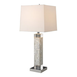 Sixpenny Blue Coral Table Lamp In White Beach Style