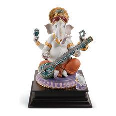 Lladro Veena Ganesha Limited Edition Figurine