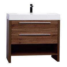 Mula 35.5-inch Modern Bathroom Vanity Walnut