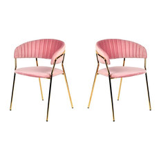 50 Pink Dining Room Chairs That Are Worth The Money In 2021 Houzz