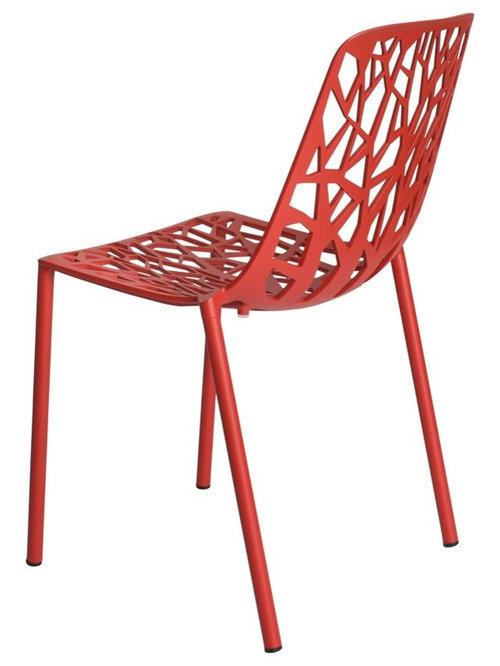 Forest Stol Stapelbar, Röd - Udendørs spisebordsstole
