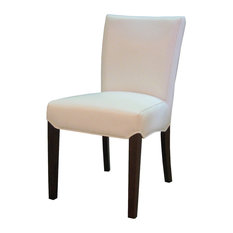 Good 1st Avenue   Kiel Leather Dining Chairs, White, Set Of 2   Dining Chairs