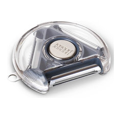 - Пиллер компактный с тремя лезвиями Rotary Peeler™ серый - Ножи для очистки фруктов