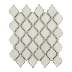 "9.88""x11.13"" Casablanca Porcelain Mosaic Floor/Wall Tile, Selene"