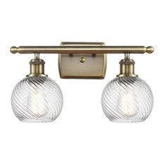 INNOVATIONS 516-2W-AB-G1214-6-LED Small Twisted Swirl 2 Light Bath Vanity Light