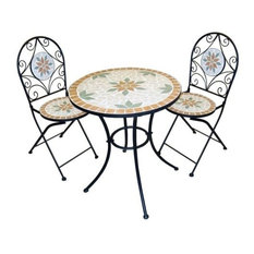 Mosaic Bistro Set With 2 Chairs