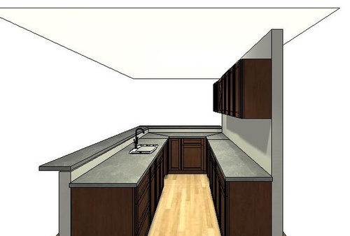 Bar Counter Height Or Having A Raised Top The Elevation Drawings Reflect But I Am Second Guessing Split Any Advice Is
