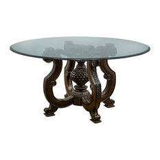 Traditional Glass Dining Tables traditional glass-top dining room tables | houzz