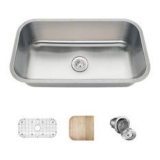 Builder Series Stainless Steel Kitchen Sinks, 16-Gauge, C Ensemble