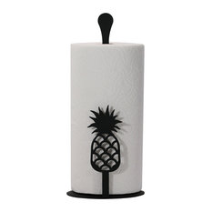 Village Wrought Iron Pineapple Paper Towel Stand