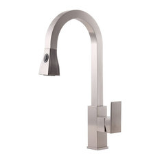 Gistel Solid Brass Deck Mounted Chrome Single Handle Kitchen Faucet