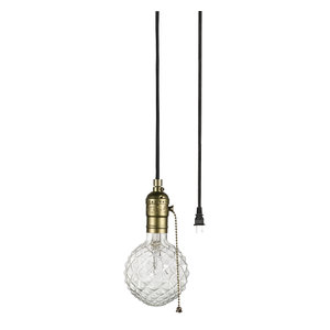Aspen Creative 21006 1-Light Plug-in Vintage Style Hanging Socket Pendant Fixture with Matte Black Socket and 15 feet of Black SPT-2 Cord and On//Off Switch
