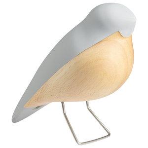 Nightingale Wooden Figurine, Grey