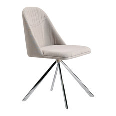 Alexandra Furniture - Gray Upholstered Office Chair With Stainless Steel Legs - Office Chairs