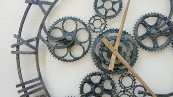 Часы лофт 90 см