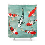 Le Ballet Des Carpes Koi Shower Curtain