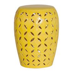 Emissary Lattice Yellow Garden Stool