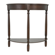 Merveilleux Decor Therapy   Simplicity Half Round Accent Table, Walnut   Console Tables