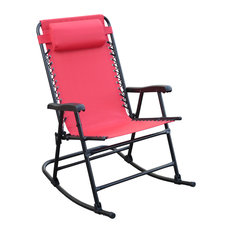 Dura Housewares Inc   Arlington Rex Folding Rocking Chair, Red   Outdoor  Rocking Chairs