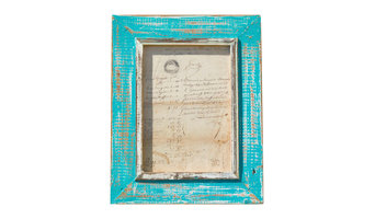 Dassie Artisan Themba Rustic Picture Frame A4, Turquoise
