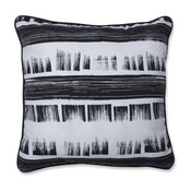 """Brushed Ink 16.5"""" Throw Pillow"""
