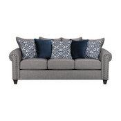 Contemporary Upholstered Sofa, Slate Finish