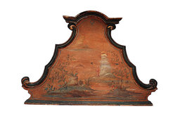 18th Century Italian Venetian Chinese Style Painted Headboard