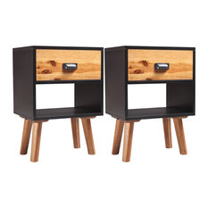vidaXL Solid Acacia Wood Bedside Cabinets, 40x30x58 cm, Set of 2