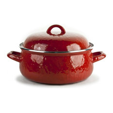 RR31 Red on Red Pattern, Enamelware Dutch Oven