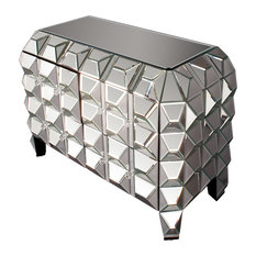 MOD - Glam Spiked Mirrored Chest - Accent Chests and Cabinets