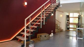Ferro Treppe mit optimalem Treppenbeleuchtung