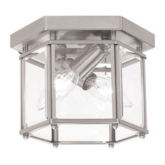 Sea Gull Lighting 2-Light Flush Mount, Brushed Nickel