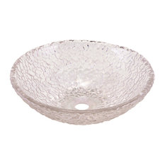 Pebble Vessel Sink, Crystal Pebble