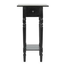 Safavieh Sabrina End Table With Storage Drawer Distressed Black