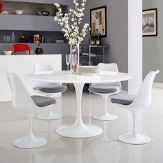 "Lippa 54"" Wood Top Dining Table"