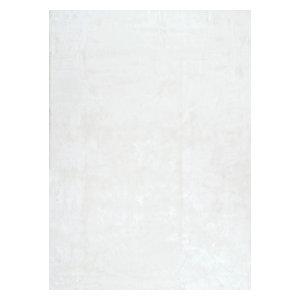 "Drummond Shag Area Rug, White, Ivory, 7'6""x9'6"""