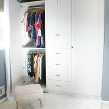 His and Hers Armoire: Before and After