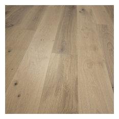 Hurst Hardwoods - French Oak Prefinished Engineered Wood Floor, Antique White, Sample - Hardwood Flooring