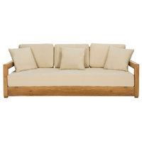 Safavieh Montford Teak 3-Seat Sofa
