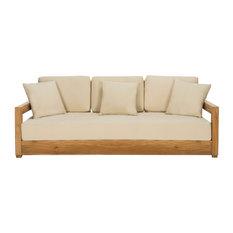 Safavieh Montford Teak 3-Seat Bench