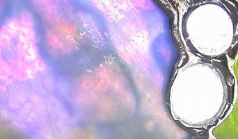 Entwurf und Fertigung eines TiffanyLampenschirmes für alten JugendstilLampenfuß