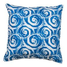 Swirls Blue Pillow