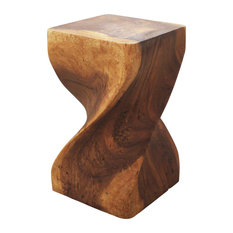 Haussmann Inc. - Sustainable Monkey Pod Wood Big Twist Stool Walnut Oil 12  sc 1 st  Houzz & Lattice Garden Stool | Houzz islam-shia.org