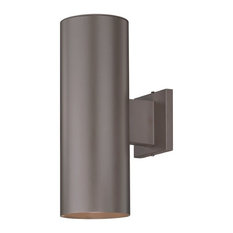 Design Classics Lighting   Up/Down Bronze Cylinder Outdoor Wall Light, 5052  PCB