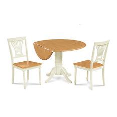 42-inch Burlington Drop Leaf Dining Table & Dining Chair Set 3 Piece