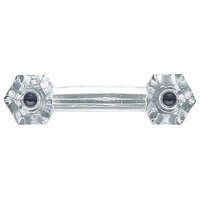 "Cabinet Pull Drawer Handle, Clear Glass, 3"" Boring"