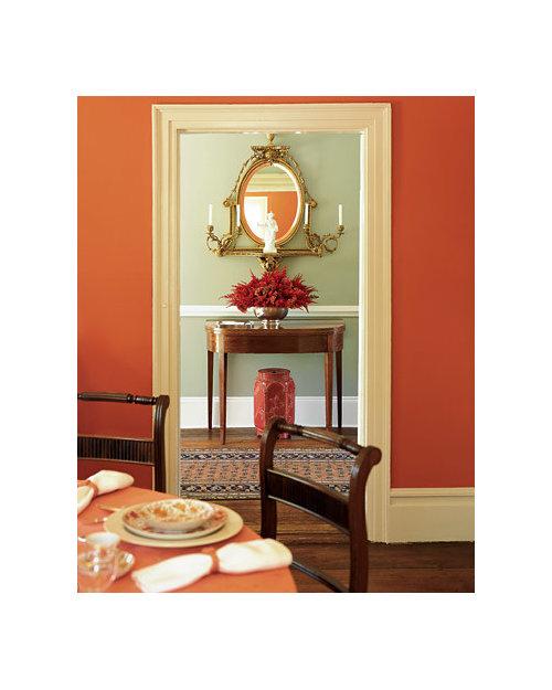Martha Stewart Orange Dining Room Grey Foyer