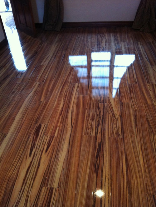 Laminate Flooring Zebrano High Gloss