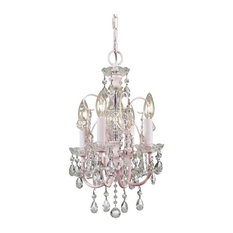 Most popular pink chandeliers for 2018 houzz crystorama lighting crystorama imperial paris flea market mini chandelier soft pink chandeliers mozeypictures Gallery