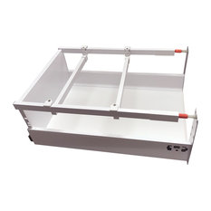 "Blum TANDEMBOX Waste/Recycle Set 18"" White"